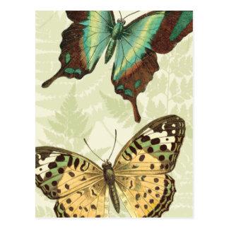 Papillon bleu et jaune carte postale