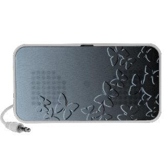 Papillon bleu haut-parleurs ordinateur portable