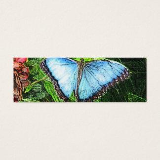 Papillon bleu mini carte de visite