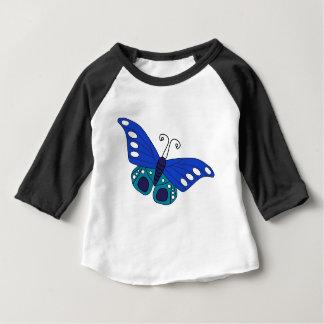 Papillon bleu t-shirt pour bébé