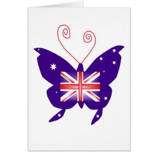 Papillon britannique de diva carte de vœux