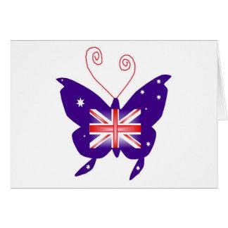Papillon britannique de diva cartes de vœux