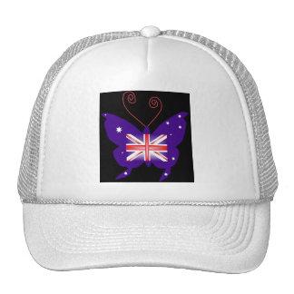 Papillon britannique de diva casquette trucker