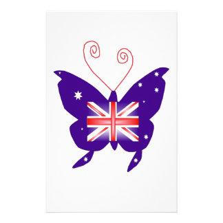 Papillon britannique de diva papiers à lettres