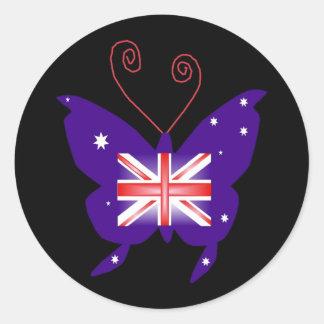 Papillon britannique de diva sticker rond