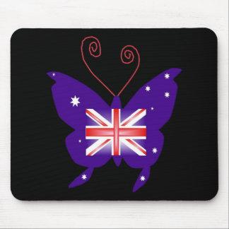 Papillon britannique de diva tapis de souris