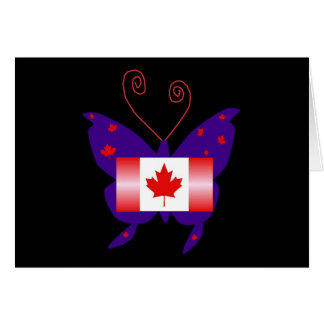 Papillon canadien de diva cartes