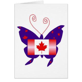 Papillon canadien de diva cartes de vœux