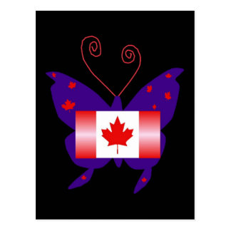 Papillon canadien de diva cartes postales