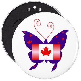 Papillon canadien de diva pin's