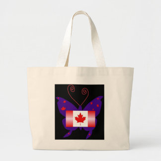 Papillon canadien de diva sac en toile jumbo