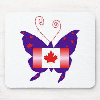 Papillon canadien de diva tapis de souris