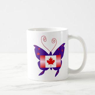 Papillon canadien de diva tasses à café
