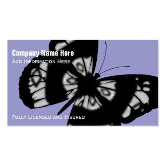 Papillon : Cartes de visite pourpres Carte De Visite Standard
