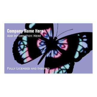 Papillon coloré : Cartes de visite pourpres Carte De Visite Standard