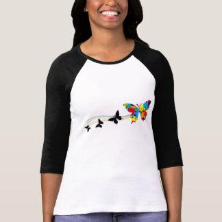 papillon d arc-en-ciel t-shirts