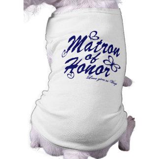 Papillon/dame de honneur t-shirt pour chien
