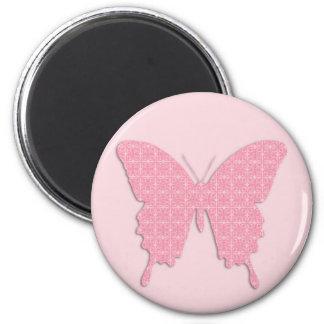 Papillon dans la copie de papier peint - aimant