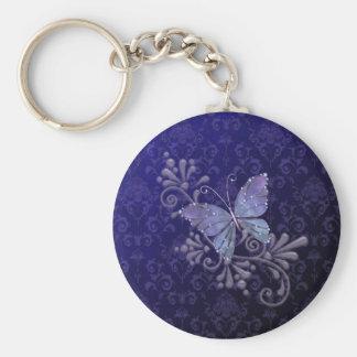Papillon de bijou porte-clé rond