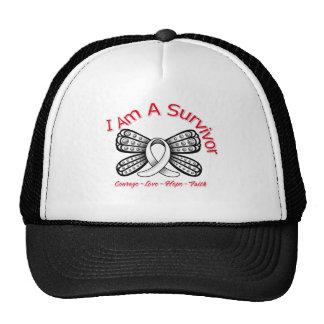 Papillon de cancer de l'os je suis un survivant casquette de camionneur