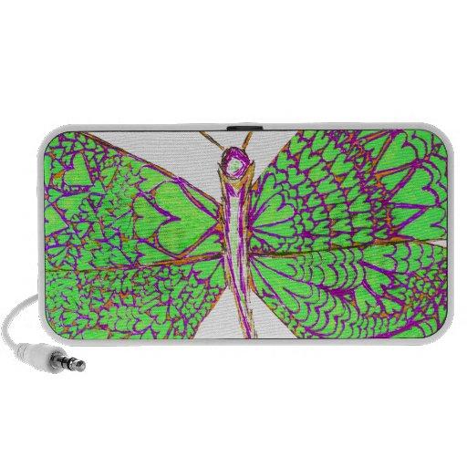 Papillon de coeur haut-parleurs PC