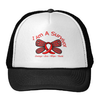 Papillon de course je suis un survivant casquette