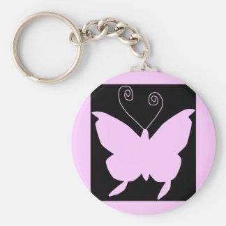 Papillon de diva porte-clé rond