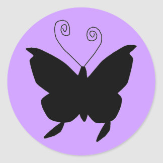 Papillon de diva sticker rond