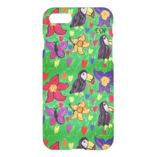 Papillon de fleur de toucan coque iPhone 7