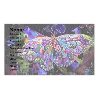 Papillon de jardin secret carte de visite standard