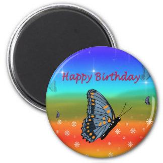 Papillon de joyeux anniversaire aimant