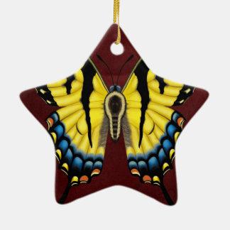Papillon de machaon de tigre ornement étoile en céramique