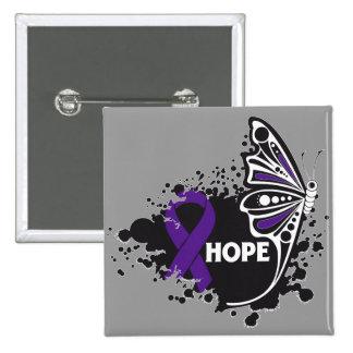Papillon de maladie de Crohn d'espoir Badge