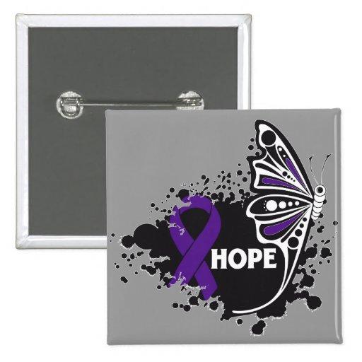 Papillon de maladie de Crohn d'espoir Badge Avec Épingle