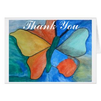 Papillon de Merci de carte d'ASC