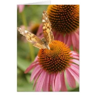Papillon de monarque carte de vœux