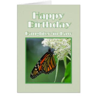 Papillon de monarque de belle-fille de joyeux cartes