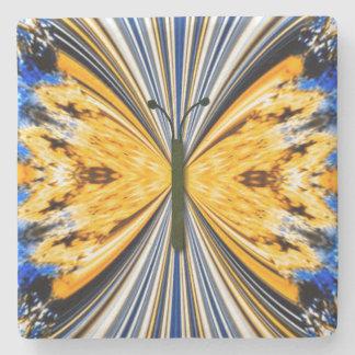papillon de monarque dessous-de-verre en pierre