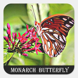 Papillon de monarque du Vermont Sticker Carré