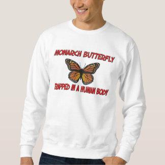 Papillon de monarque emprisonné à un corps humain sweatshirt