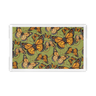 Papillon de monarque plateau en acrylique
