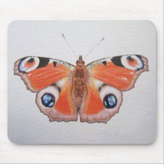 Papillon de paon 2012 tapis de souris