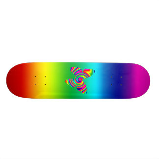 Papillon de pirouette d'arc-en-ciel skateboards