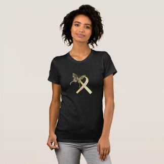 Papillon de ruban de conscience d'endométriose t-shirt