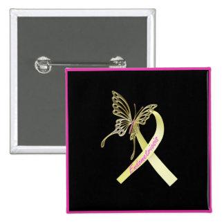 Papillon de ruban d'endométriose badge