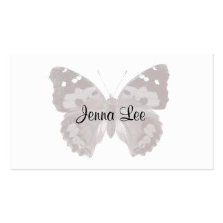 Papillon de Taupe cartes de visite personnalisés p Cartes De Visite Professionnelles