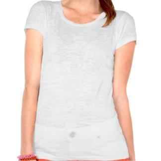 Papillon de tribal blanc et bleu-foncé t-shirt