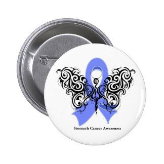 Papillon de tribal de cancer de l'estomac badge rond 5 cm