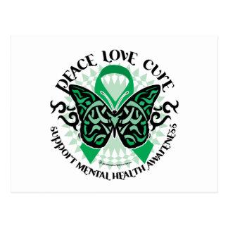 Papillon de tribal de santé mentale carte postale