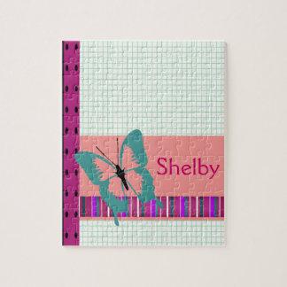 Papillon de turquoise puzzle